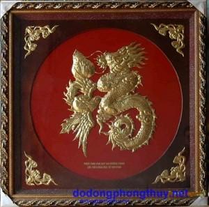 tranh đồng chữ phúc hóa rồng