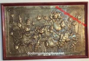 5 mẫu phù điêu hoa sen bằng đồng trang trí phòng thờ